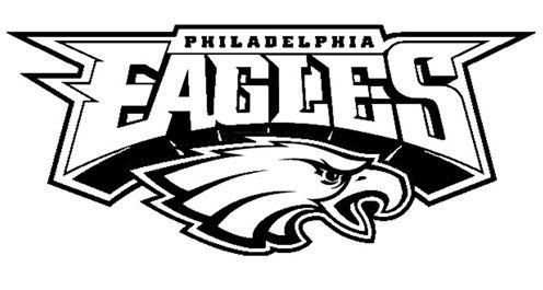 Black and White Philadelphia Eagles Logo.