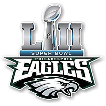 Philadelphia Eagles Champions SB52 Die Cut Decal (12\