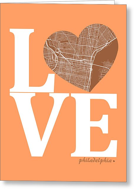 Philadelphia Street Map Love.