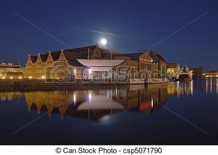 Stock Photography of Philharmonic Hall in Gdansk.