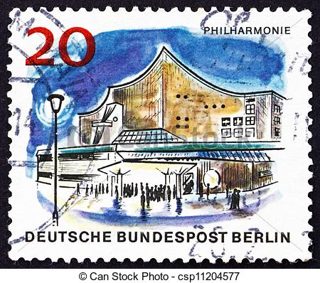 Picture of Postage stamp Germany 1965 Philharmonic Hall, Berlin.