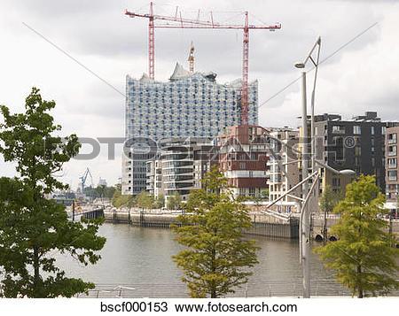 Stock Photo of Germany, Hamburg, View of Elbe Philharmonic Hall.