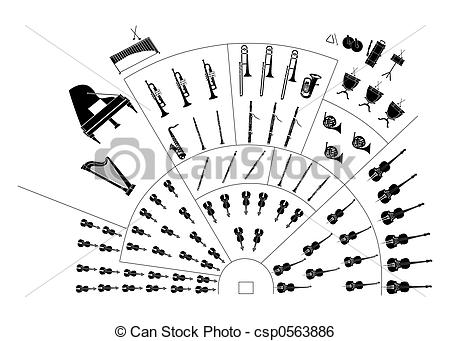 Stock Illustration of symphony orchestra csp0563886.