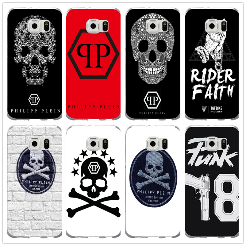 Silicone Soft TPU Mobile Phone Samsung Galaxy S2 S3 S4 S5 S6 S7 Edge S8 S9  Plus Mini Philipp Plein Matte.