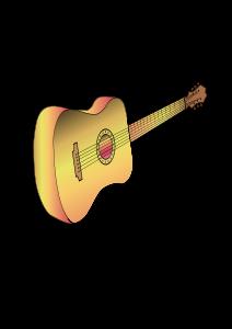 Guitar profile philippe 01 Clipart, vector clip art online.
