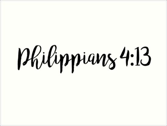 \'Philippians 4:13\' Art Print by Olivia Lee.