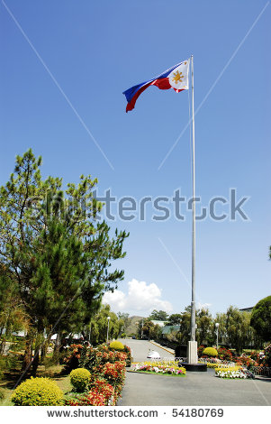 View Philippines Flag Flying High Above Stock Photo 54180769.