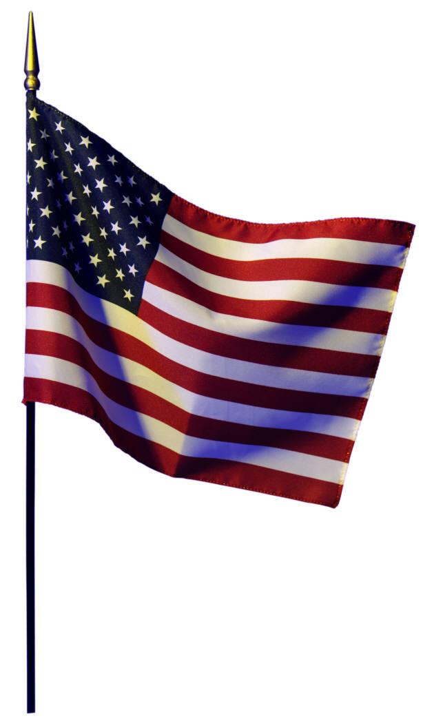 Angled flag pole clipart.