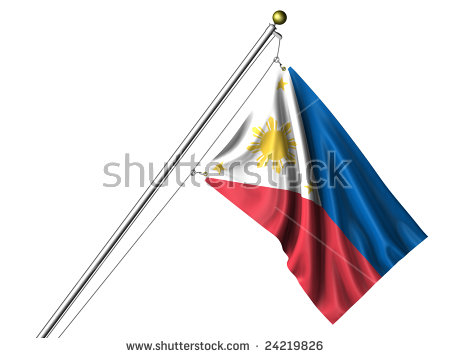 Detailed 3d Rendering Of The Flag Of The Philippines Hanging On A.