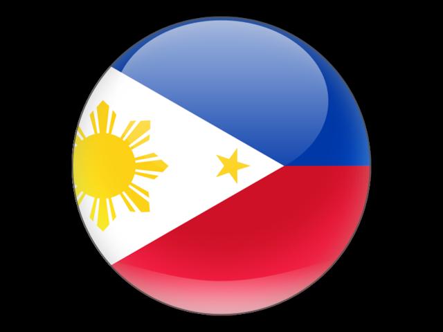 Round icon. Illustration of flag of Philippines.