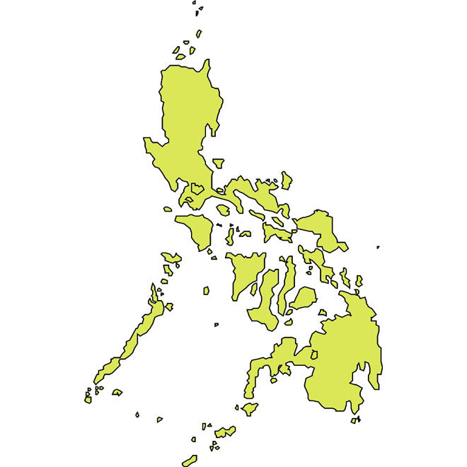 OUTLINE VECTOR MAP OF PHILIPPINES.