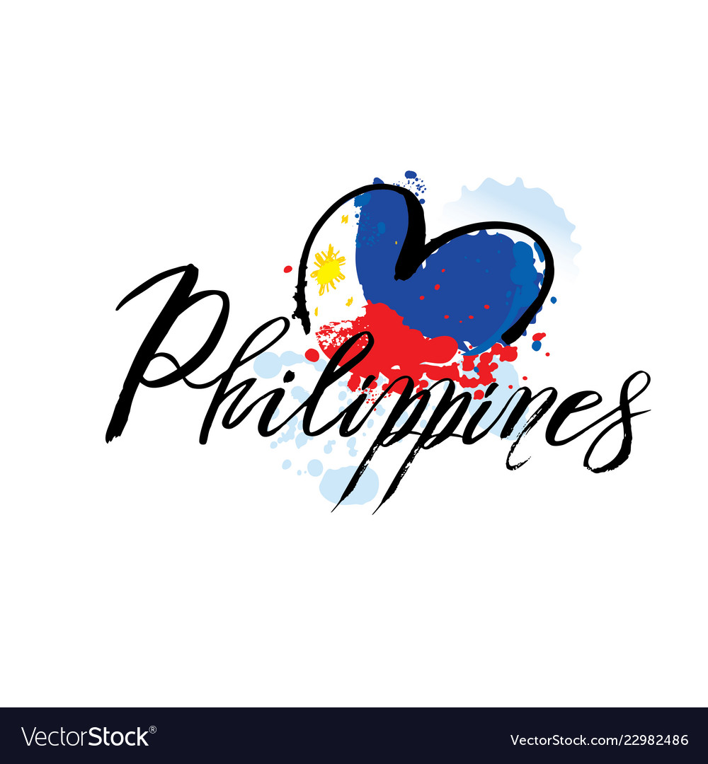 Logo for philippines country fridge magnet.