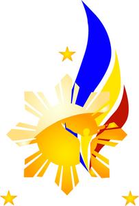 Philippine Flag clip art.