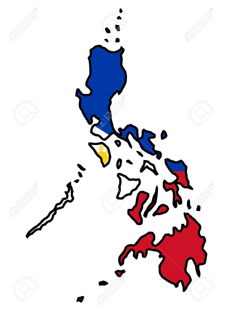 Philippine map clipart 6 » Clipart Station.