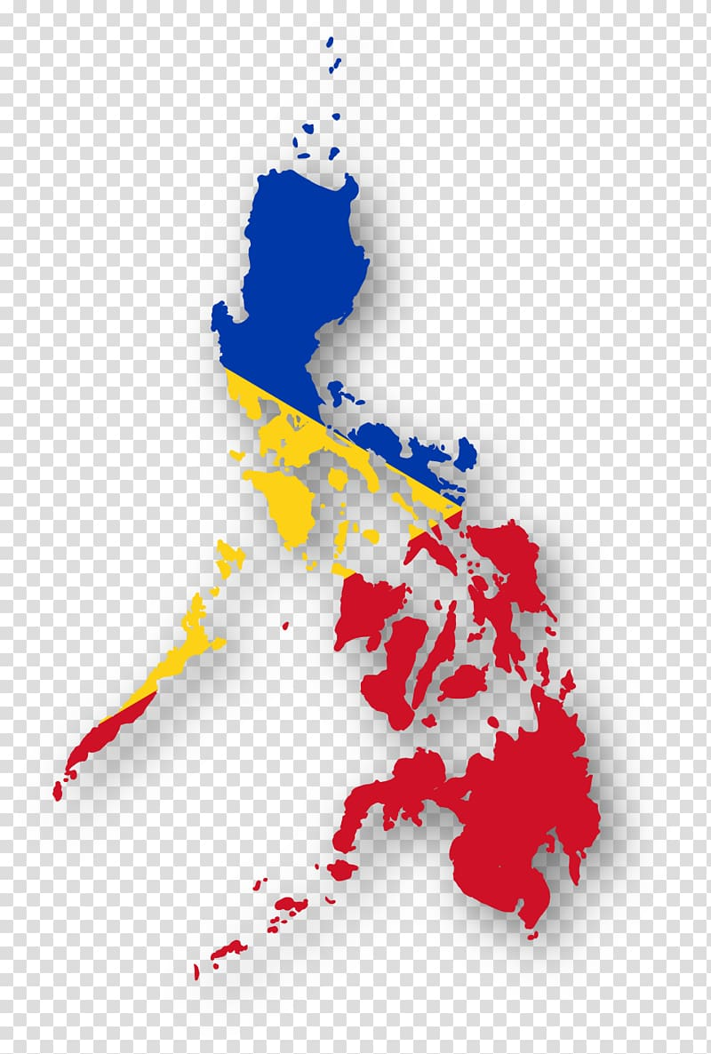 Blue, yellow, and red Philippine map, Flag of the.