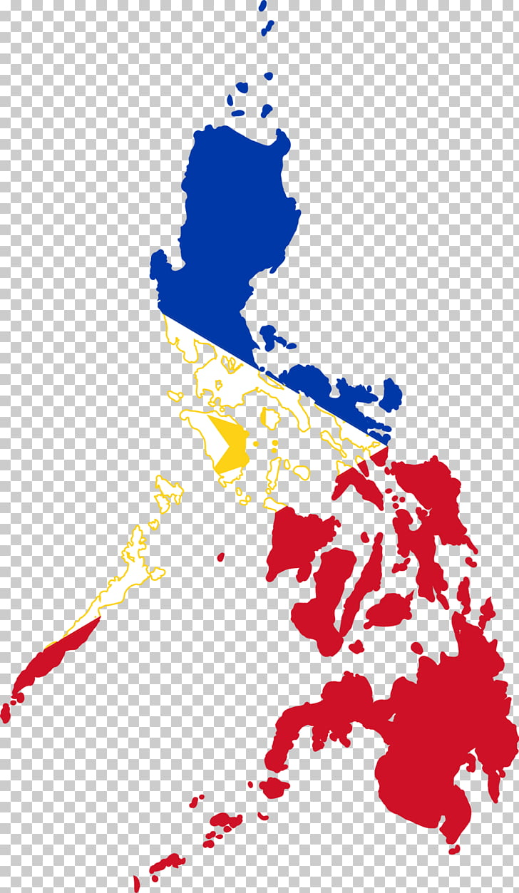Flag of the Philippines Map, philippines, red, blue, and.
