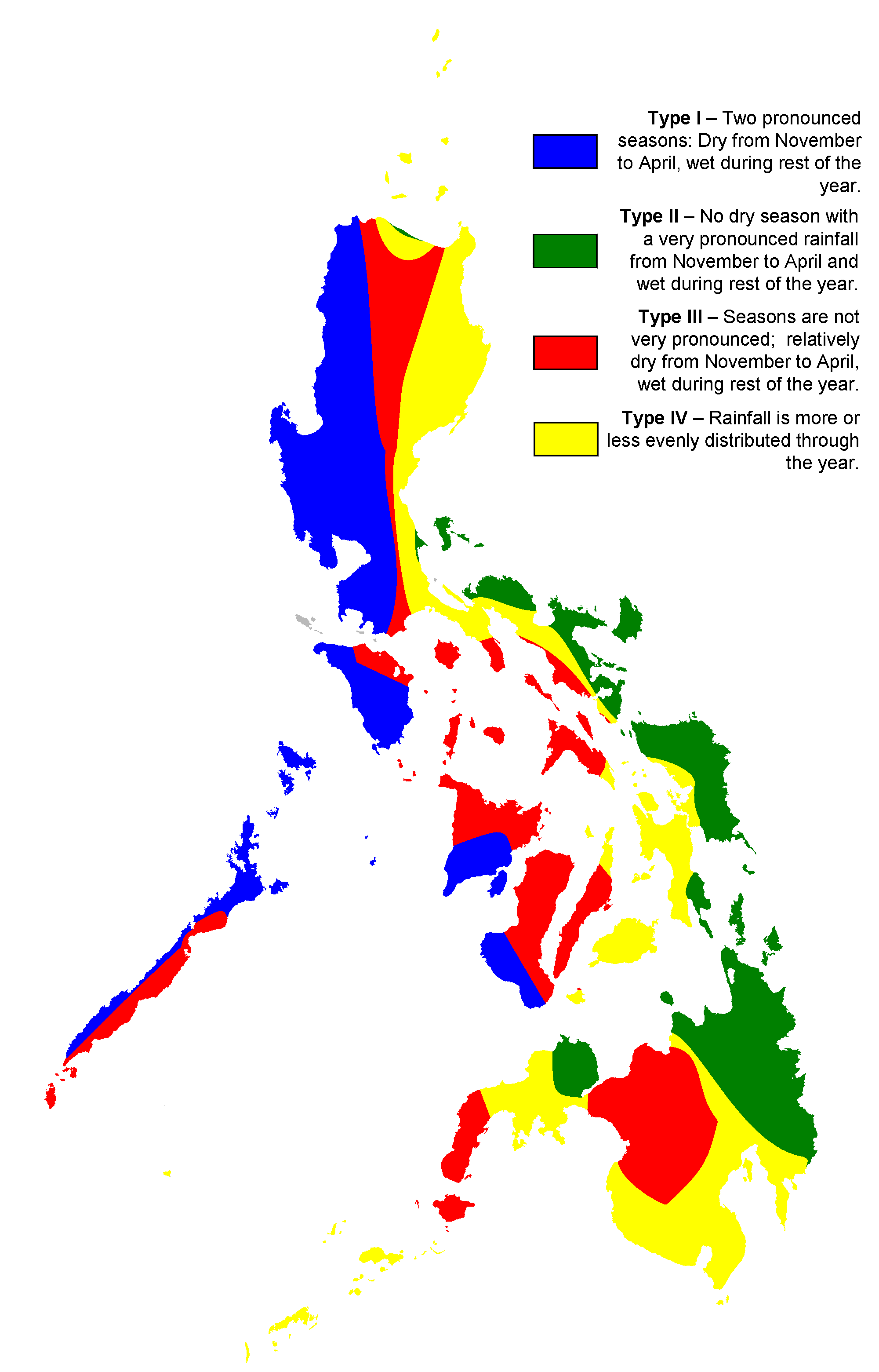 Philippine Climate Map • Mapsof.net.