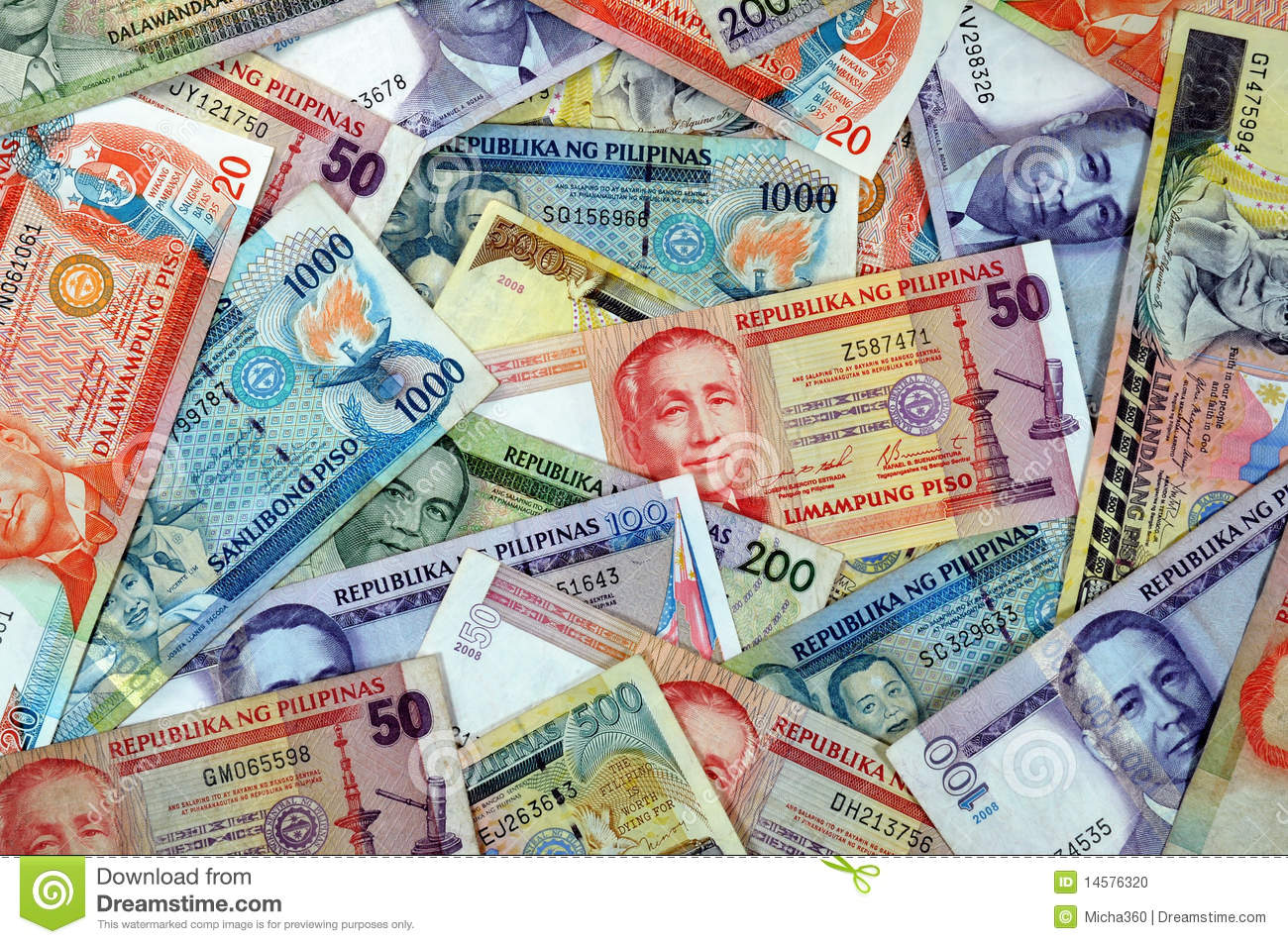 Philippines Currency Stock Photo.