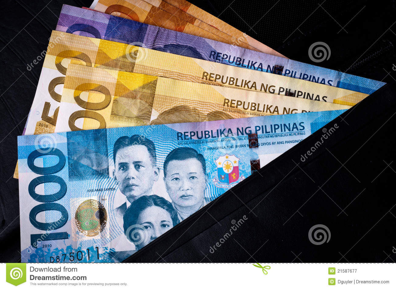Philippine Currency Royalty Free Stock Photography.