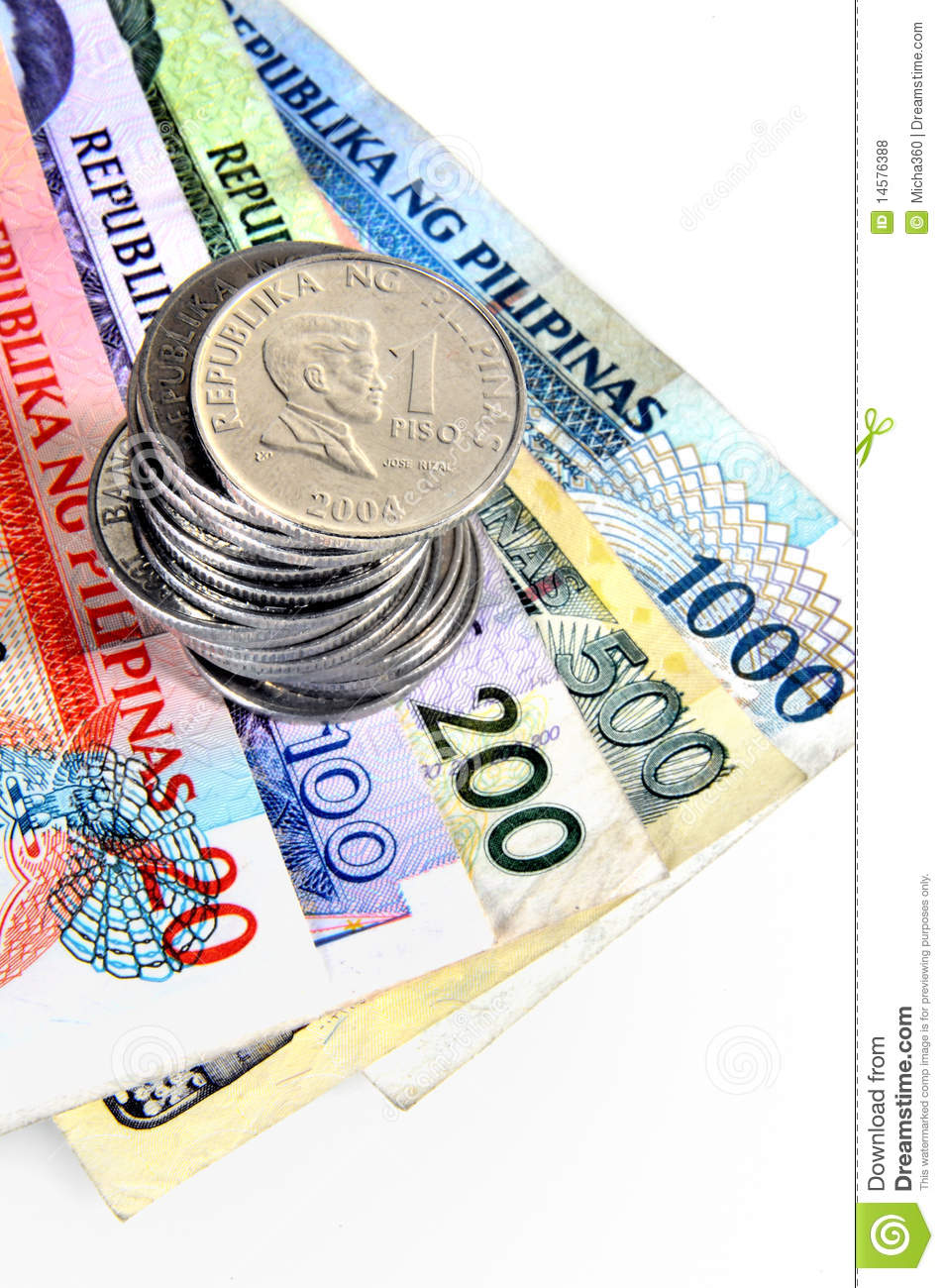 Philippines Money Royalty Free Stock Photos.