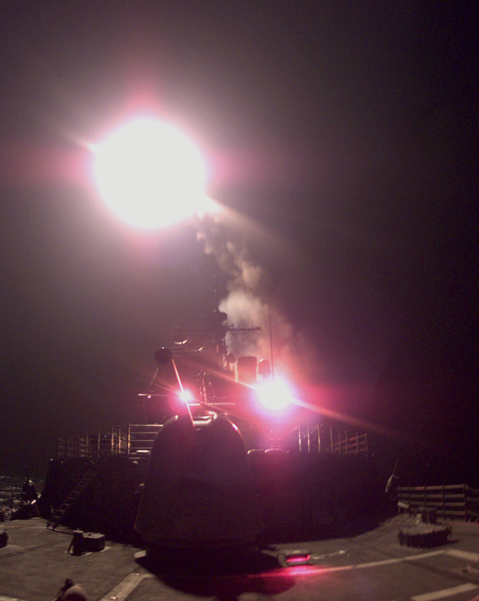 Uss Philippine Sea Launches Tomahawk Missile..