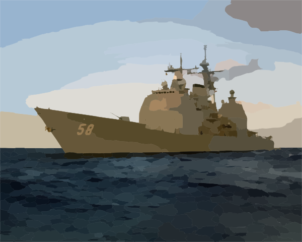 Uss Philippine Sea (cg 58) Conducts Work.