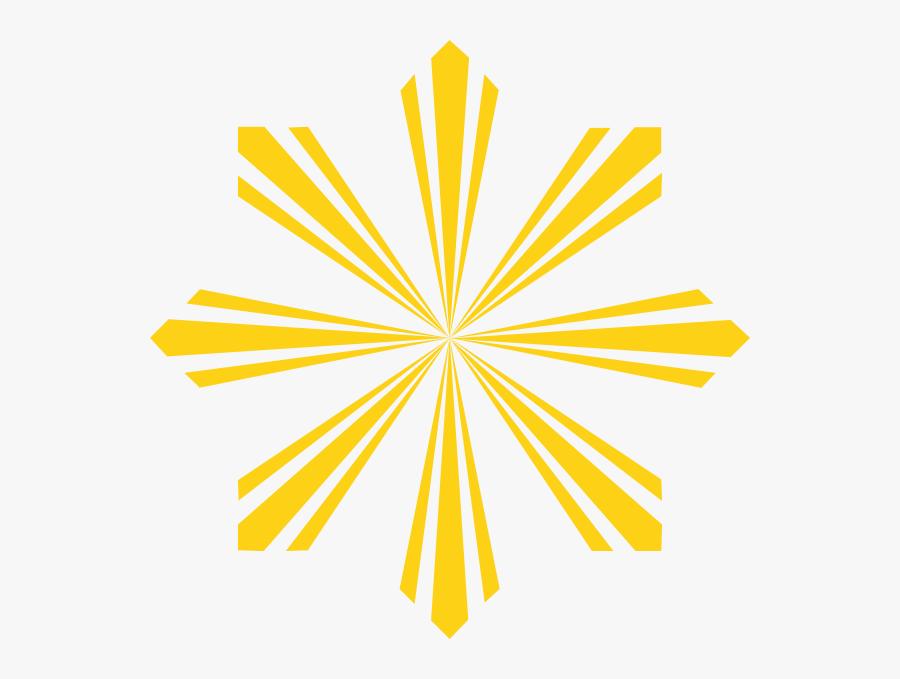 Sun Rays Philippine Flag , Free Transparent Clipart.