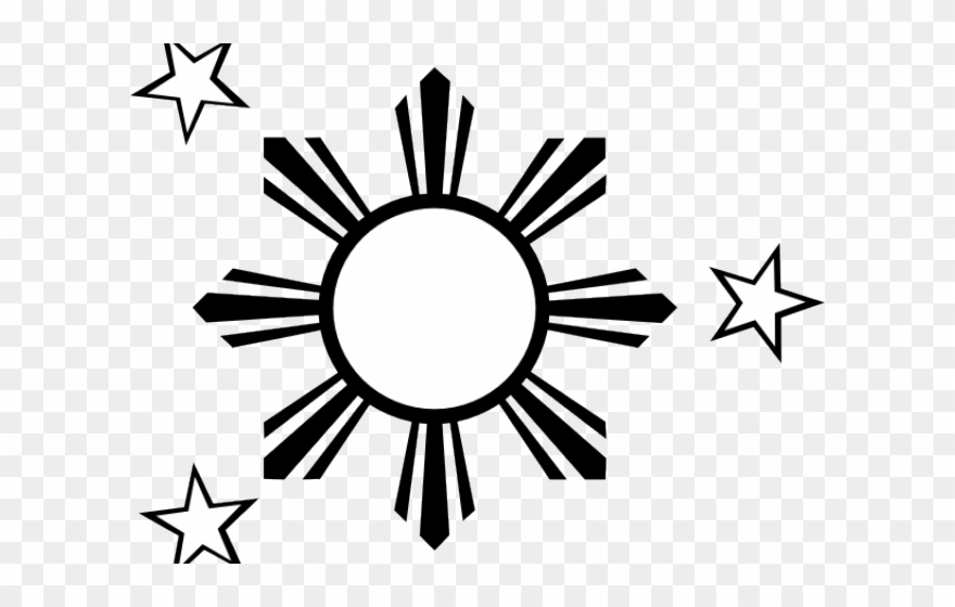 Drawn Stars Philippine Flag.