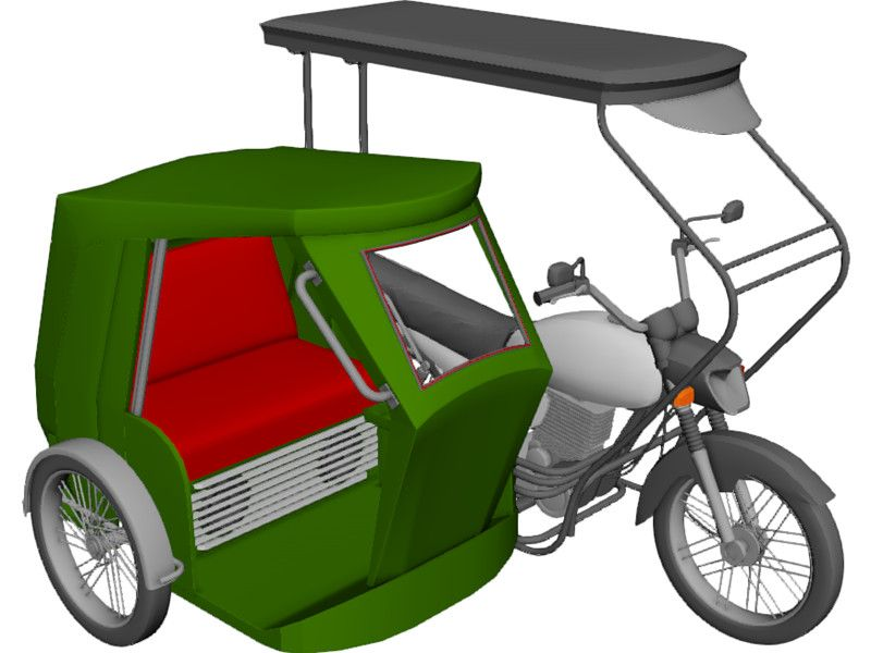 Tricycle Philippines 3D Model.