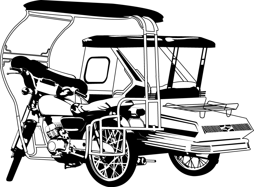 Philippine tricycle clipart black and white 4 » Clipart Station.