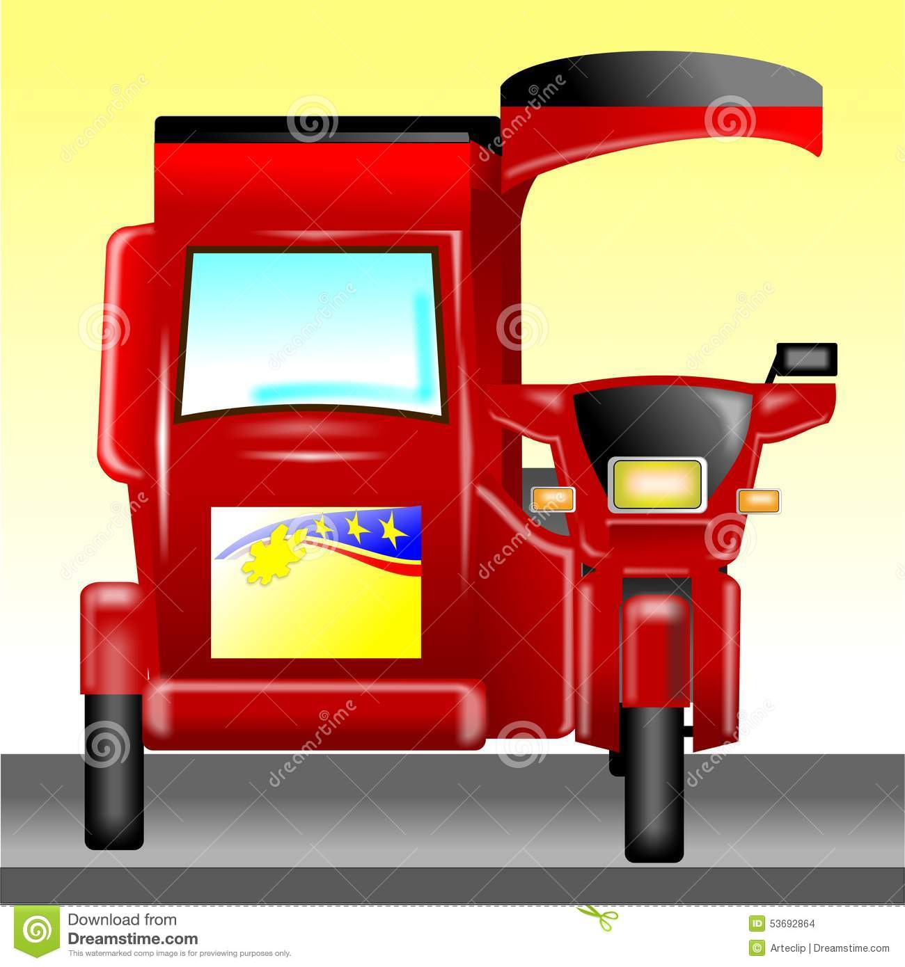 Philippine tricycle clipart 9 » Clipart Station.