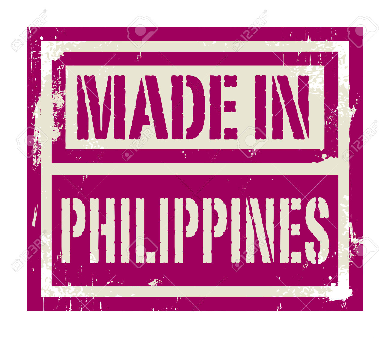 Abstract Stamp Or Label With Text Made In Philippines, Vector.