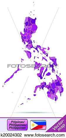 Clipart of Map of philippines k20024302.