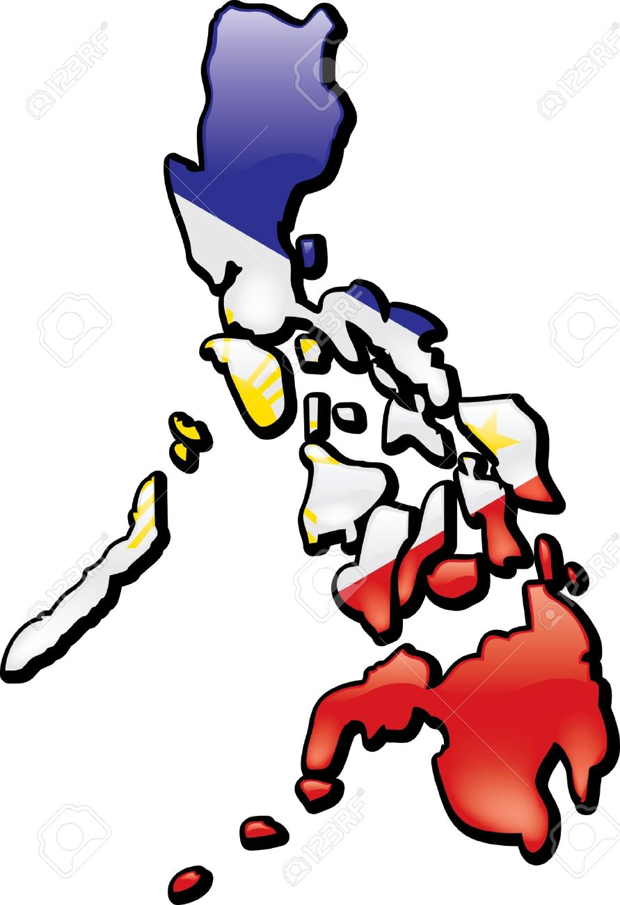 Map of the philippines clipart.