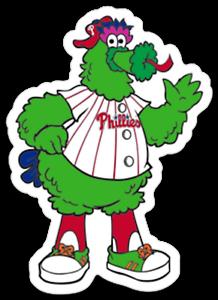 Details about Philadelphia Phillies Phanatic 3 inch Vinyl Sticker Eagles  Flyers 76ers laptop.