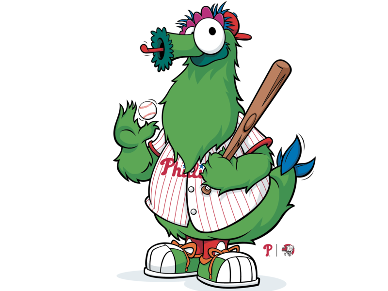 The Philly Phanatic by Matthew J Luxich on Dribbble.