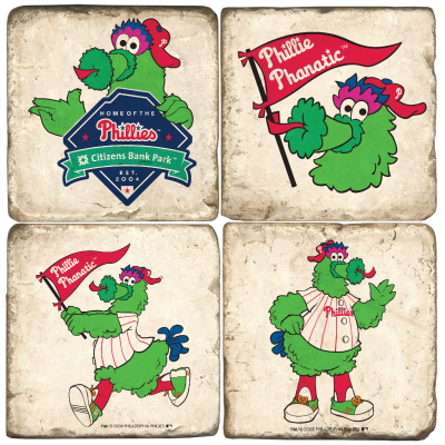 Phillie Phanatic Marble Coasters.