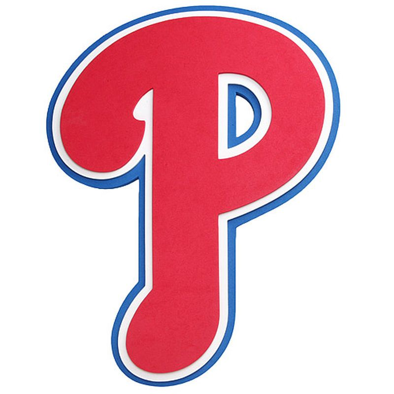Philadelphia Phillies Thin Foam Logo in 2019.