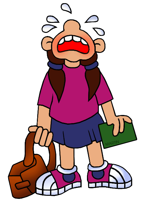 School Clip Art by Phillip Martin, Crying.