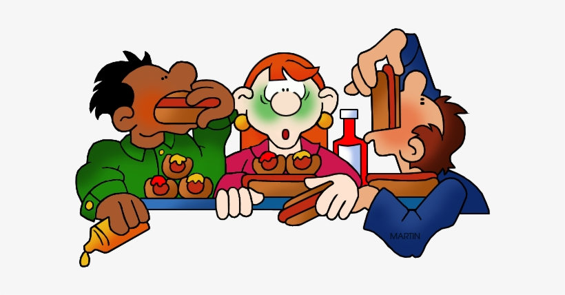 Eating Contest Clip Art.
