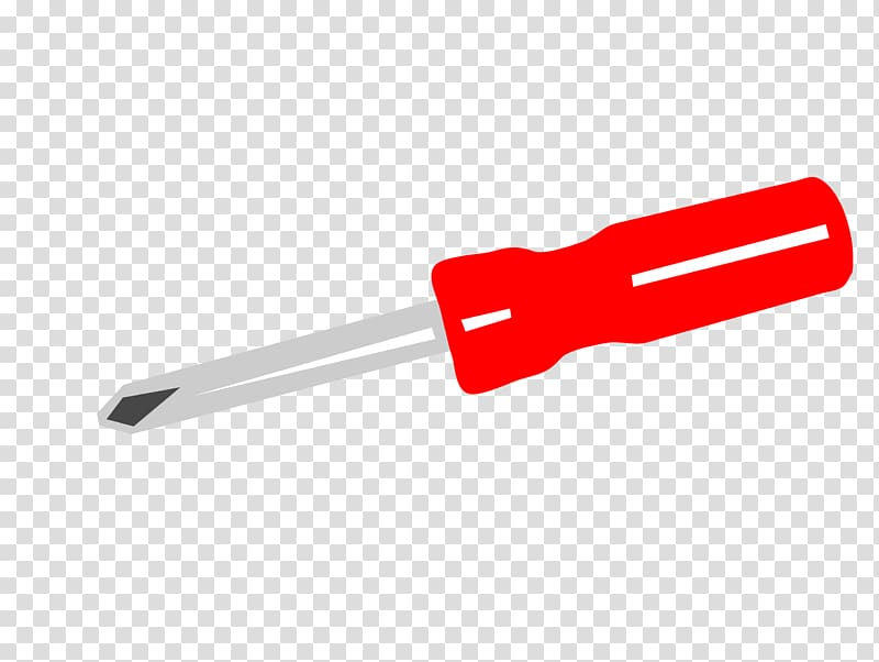 Designer Cross, Cartoon red Phillips screwdriver transparent.