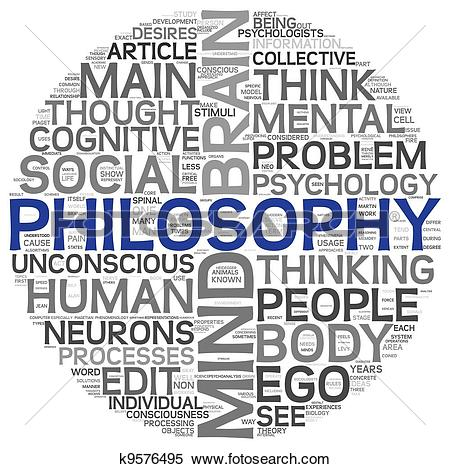 Stock Illustration of Philosophy concept in word tag cloud.