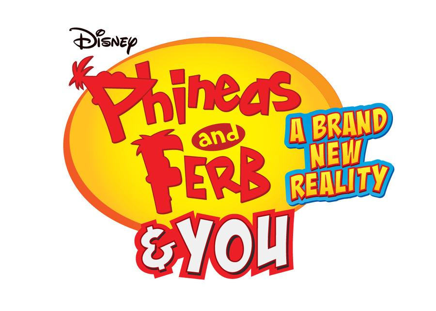 Phineas and Ferb and YOU A Brand New Reality\' logo.