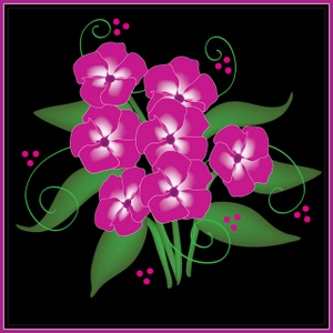 Flowers Clipart Image.
