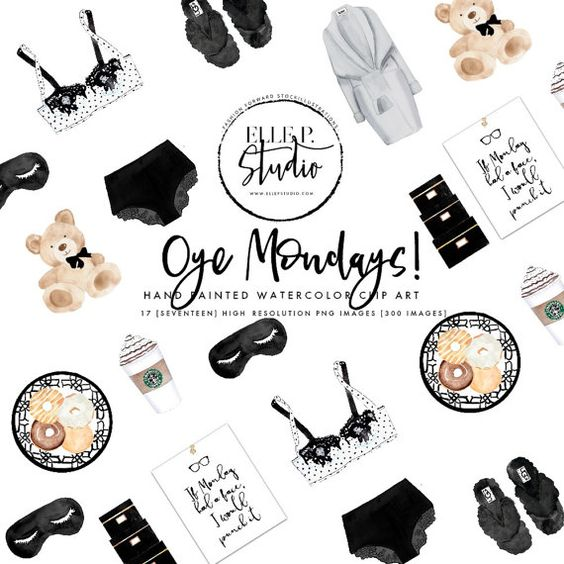 Nobody likes Mondays.but with this little clipart bundle, how.