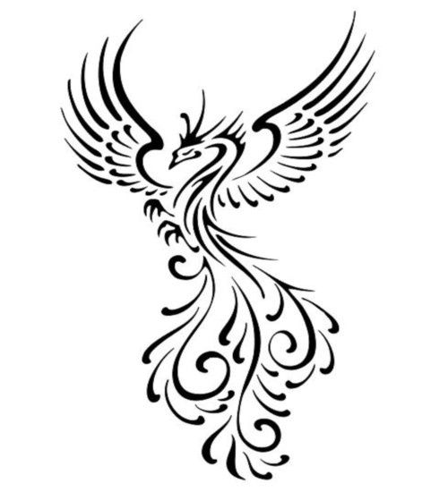 Phoenix clipart black and white 2 » Clipart Station.