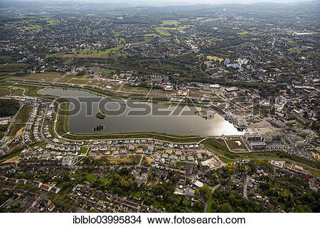 "Stock Photo of ""Phoenix Lake, Horde, Dortmund, Ruhr district."