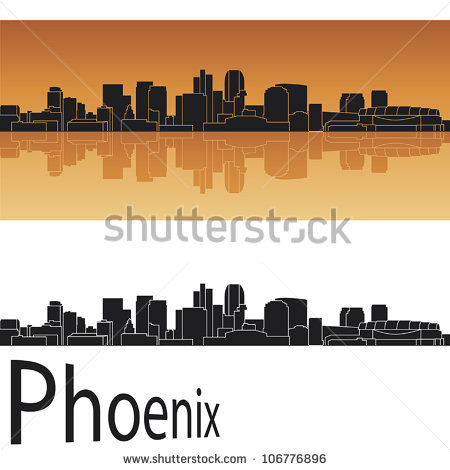 Phoenix Arizona Skyline Stock Vectors, Images & Vector Art.