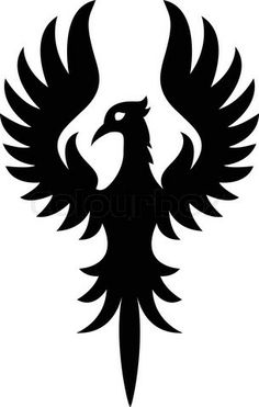 Phoenix Rising Decal Sticker, bird decals, animal stickers, pet.