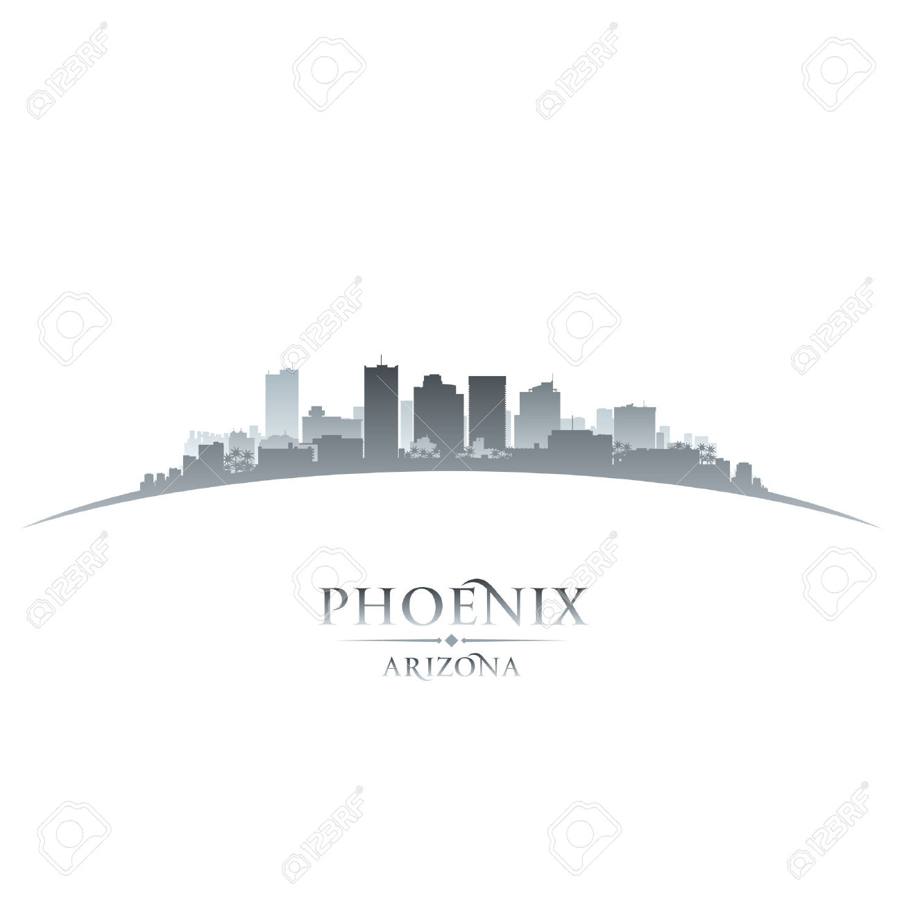 139 Phoenix Skyline Stock Vector Illustration And Royalty Free.